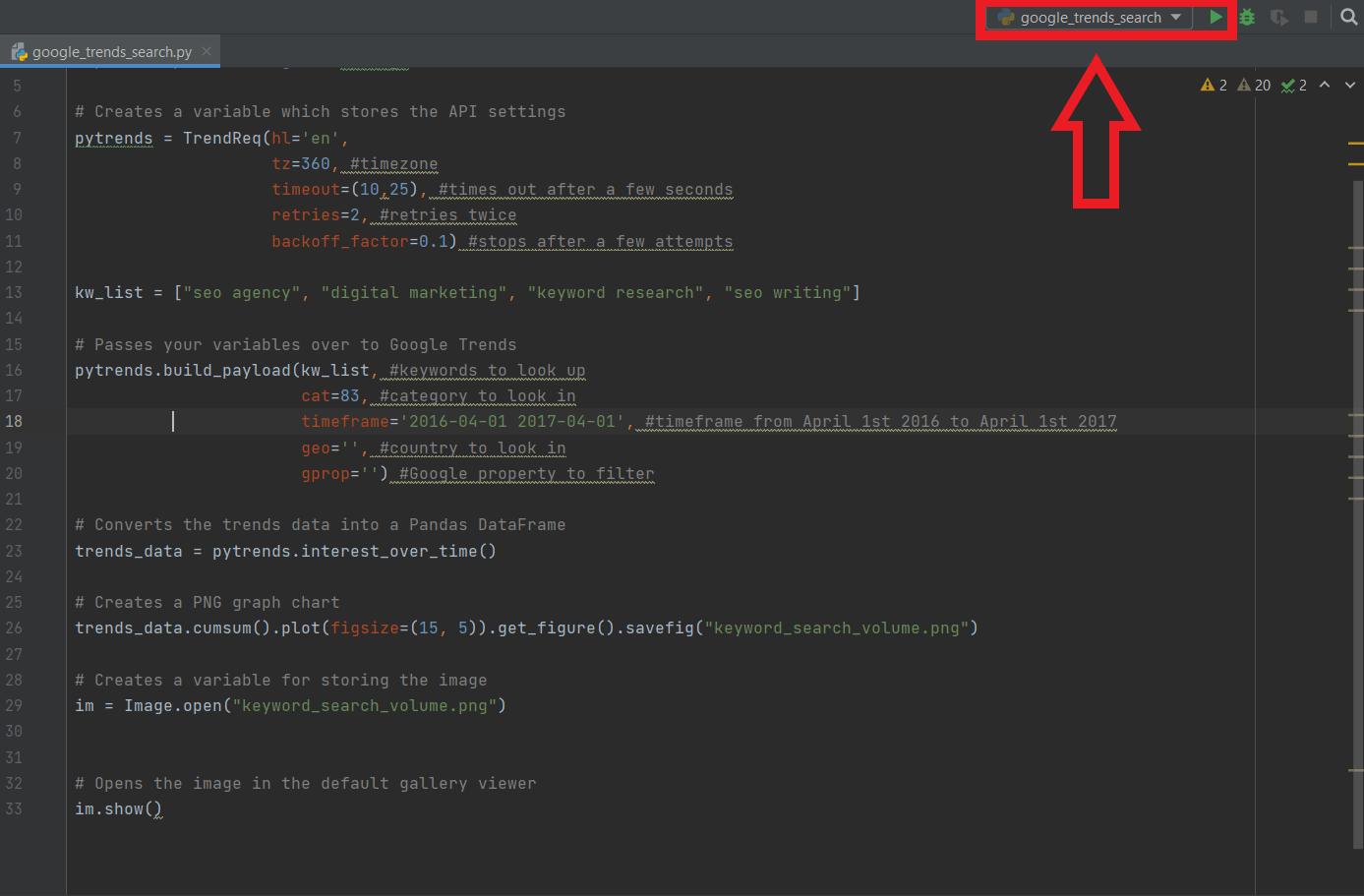 how to run program in pycharm