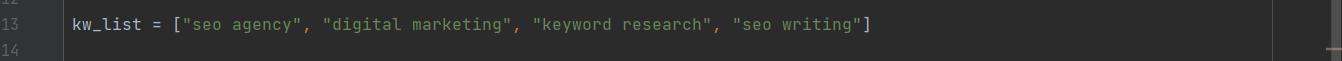 old keyword list